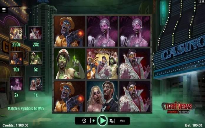 Lost Vegas Zombies Scratch, online casino bonus