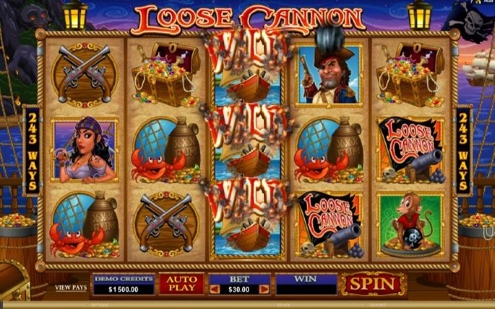 Online Casino Bonus, Loose Cannon