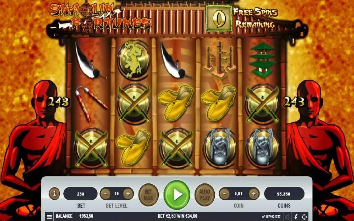 Shaolin Fortunes, Bonus Casino
