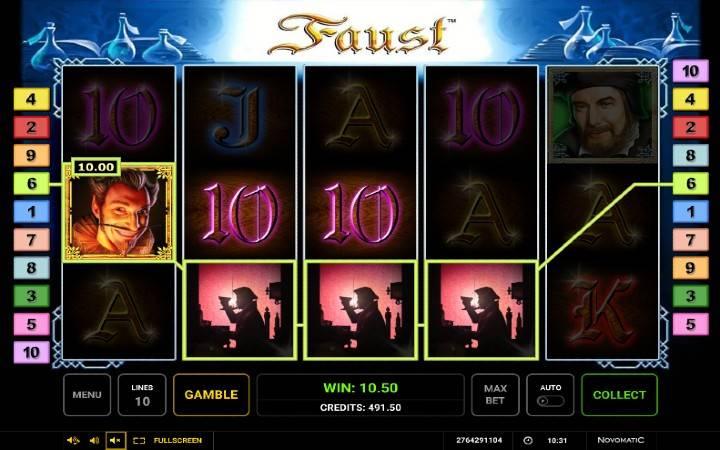 Online Casino Bonus, Faust