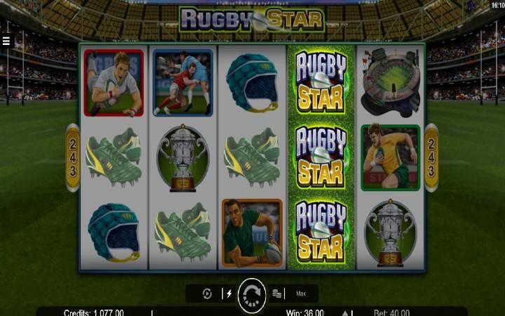 Online casino bonus, Rugby Star