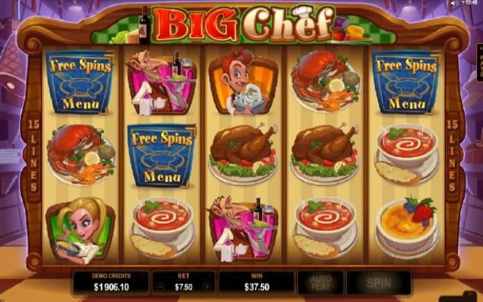 Big Chef-slot-tabla slota-bonus igra-tri scatter simbola