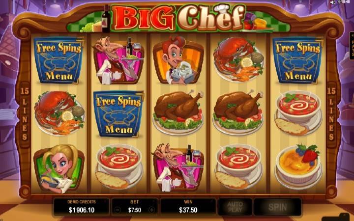 Besplatni spinovi, online casino bonus, Big Chef