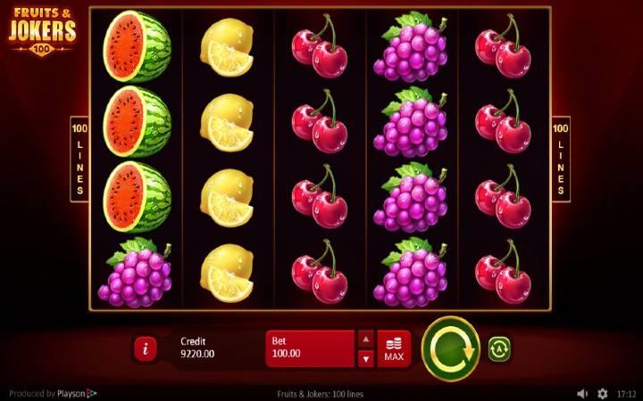 Druits and Jokers 100 lines, online casino bonus