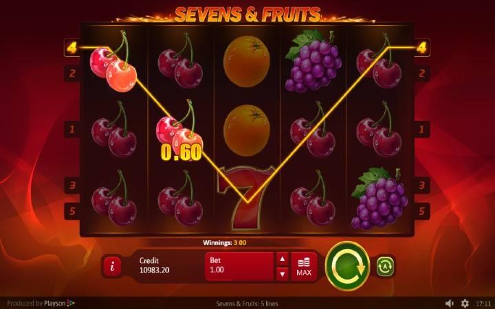 Online Casino Bonus, Sevens and Fruits