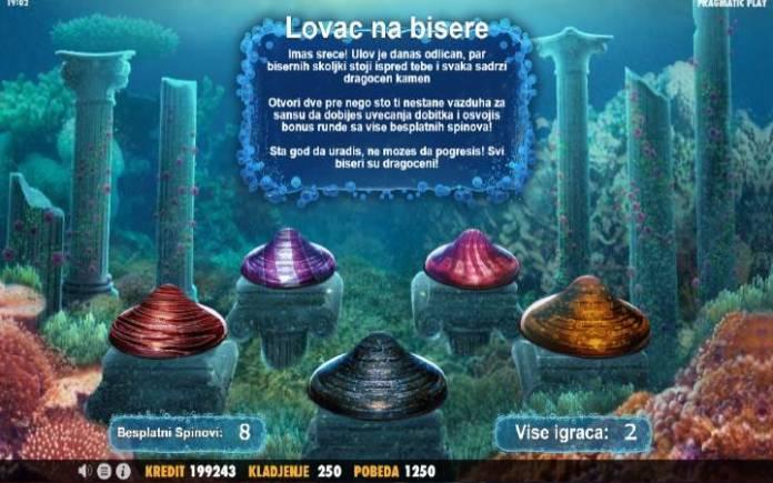 Lovac na bisere, online casino bonus
