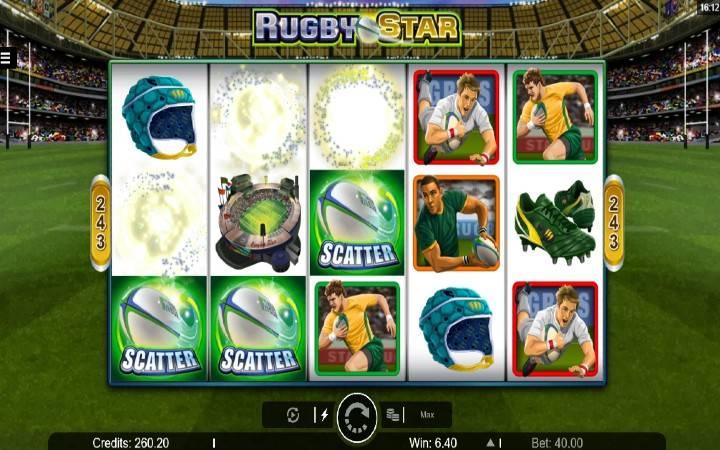 Besplatni spinovi, online casino bonus, Rugby Star