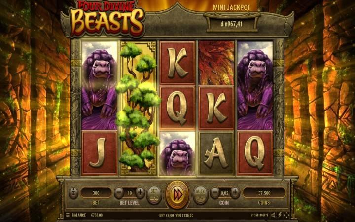 Besplatni spinovi, složeni džokeri, Four Divine Beasts