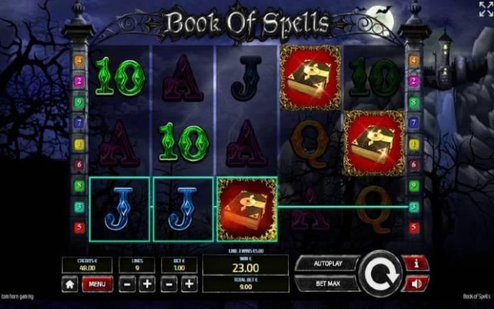 Besplatni spinovi, Book of Spells, online casino bonus