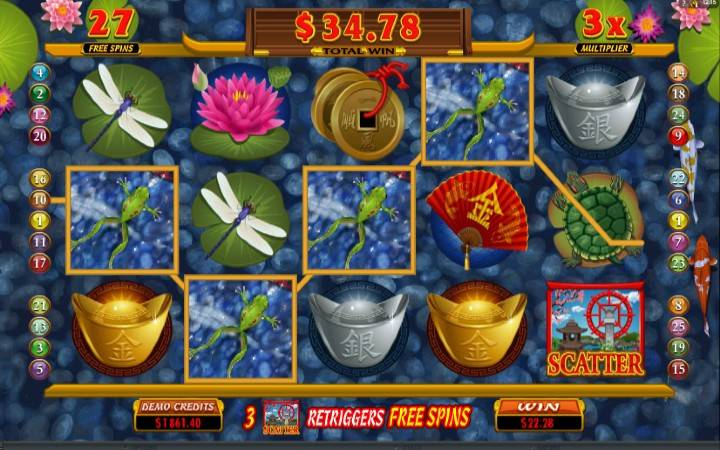 Besplatni spinovi, Lucky Koi, Online Casino Bonus