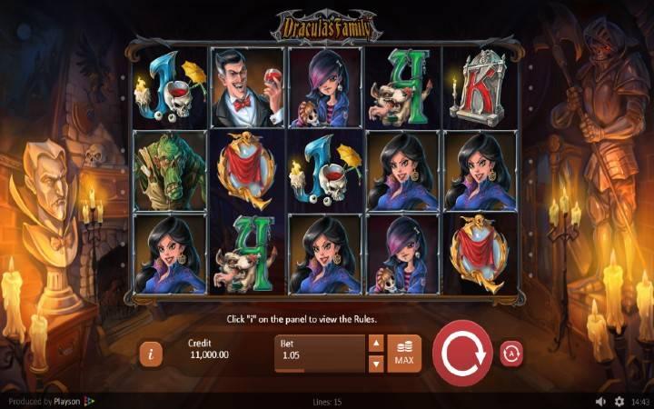 Dracula's Family, online casino bonus