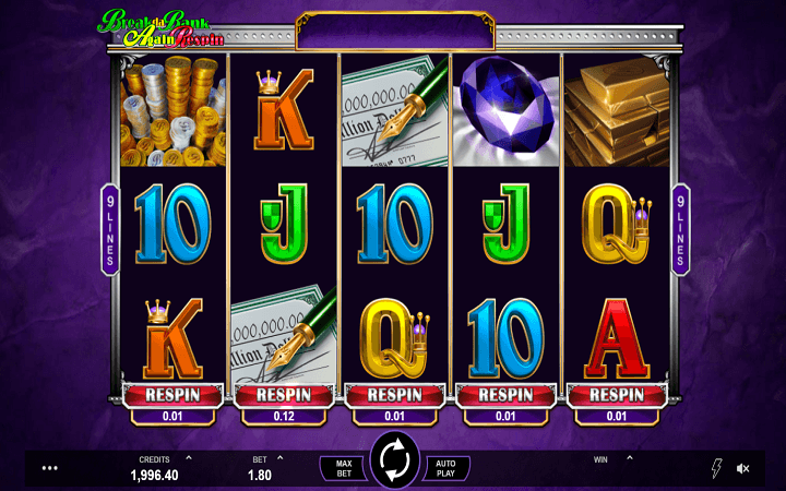 Break Da Bank Again Respin, Microgaming, Online Casino Bonus