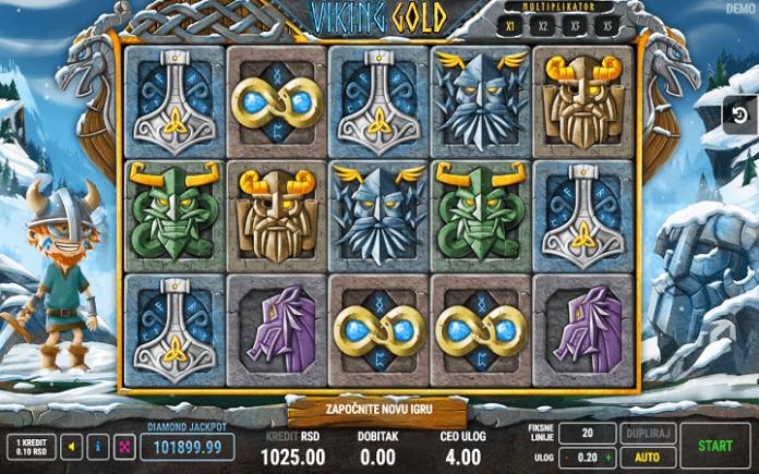 slot Viking Gold -  tabla slota Viking Gold