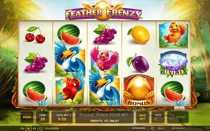 Feather Frenzy, Novomatic, Greentube, Online Casino Bonus