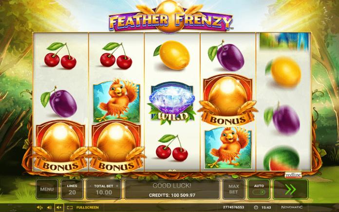 Feather Frenzy-tri scatter simbola pokreću bonus igru