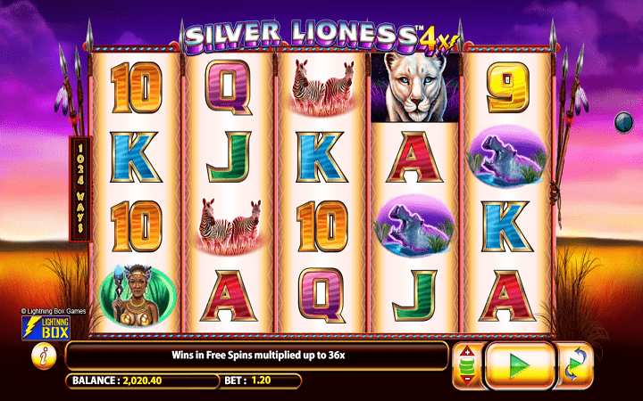 Silver Lioness, Microgaming, Bonus Casino