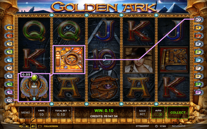 Golden Ark, Novomatic, Greentube, Online Casino Bonus