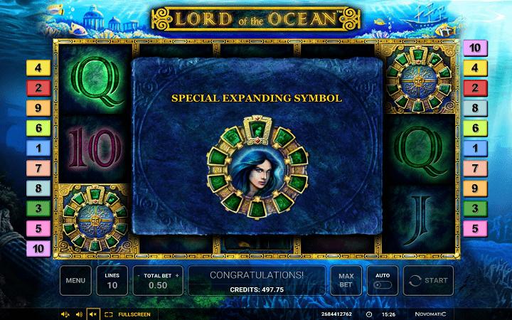 Lord of the Ocean, Novomatic, Greentube, Online Casino Bonus