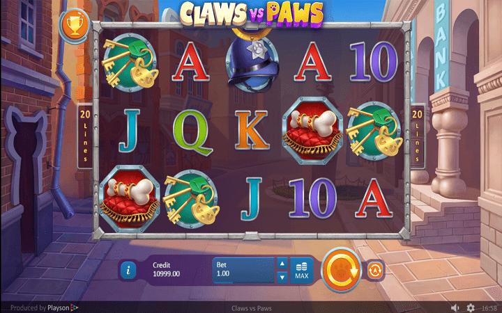Claws vs Paws, Playson, Online Casino Bonus