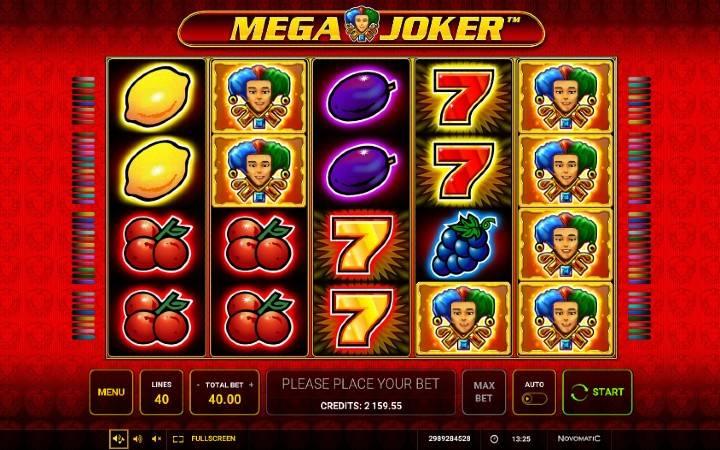 Mega Joker, Novomatic, Green Tube, Online Casino Bonus
