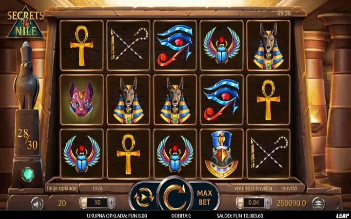 Secrets of The Nile, Leap Casino, Online Casino Bonus