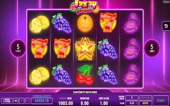 Jazzy Fruits, Online Casino Bonus, Fazi