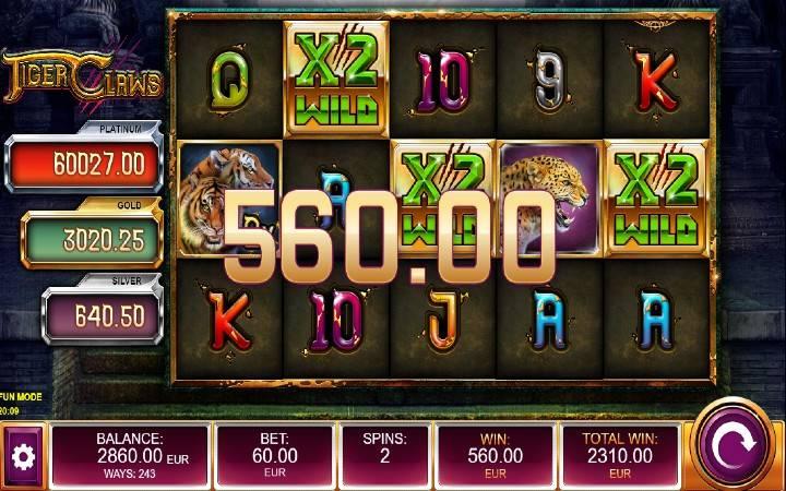 Besplatni SPinovi, Online Casino Bonus, Tiger Claws, Kalamba Games