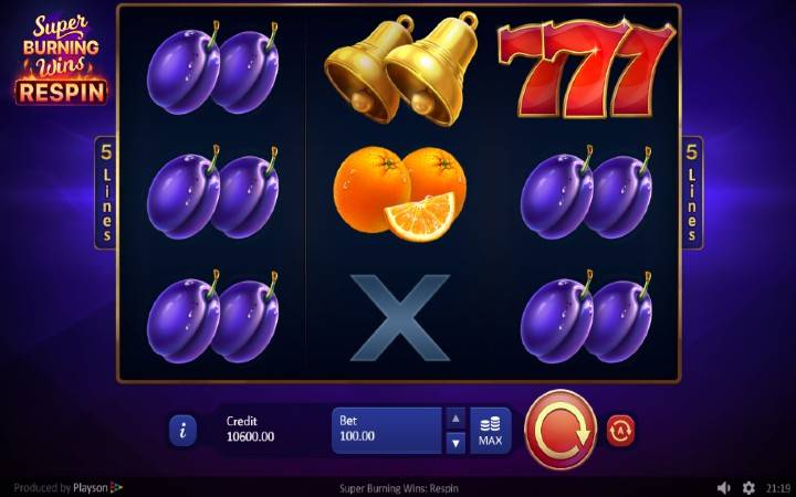Uper Burning Wins: Respin, Online Casino Bonus