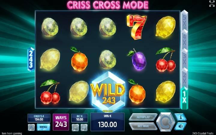 Respin, Online Casino Bonus, 243 Crystal Fruits
