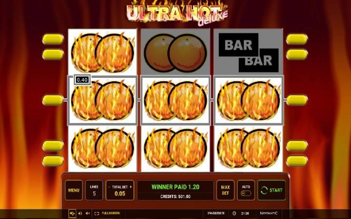 Online Casino Bonus, Ultra Hot Deluxe, voćkice