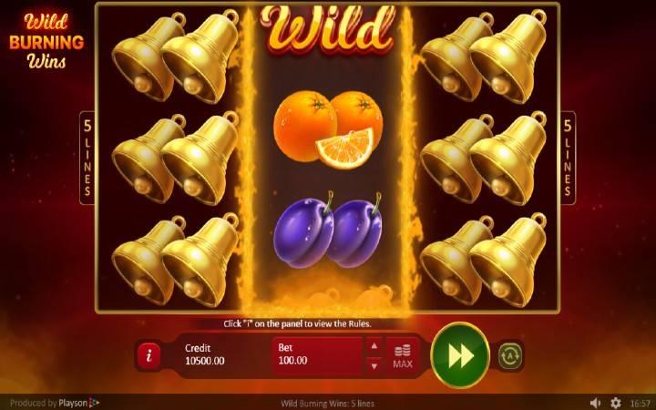 Respin Funkcija, Online Casino Bonus, WIld Burning WIns