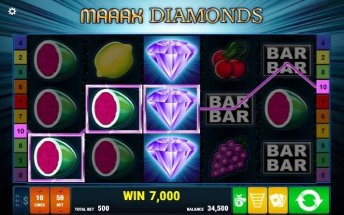 Gamomat, Maaax Diamonds, Online Casino Bonus, Džokeri