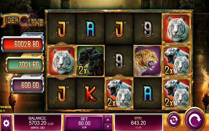 Tiger Claws, Online Casino Bonus, Kalamba Games
