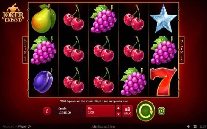 Joker Expand: 5 lines, Playson, Online Casino Bonus