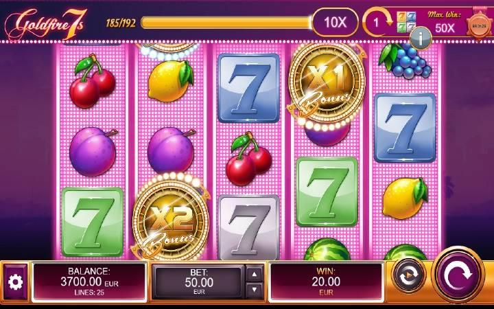 Respin, Online Casino Bonus, Goldfire 7s