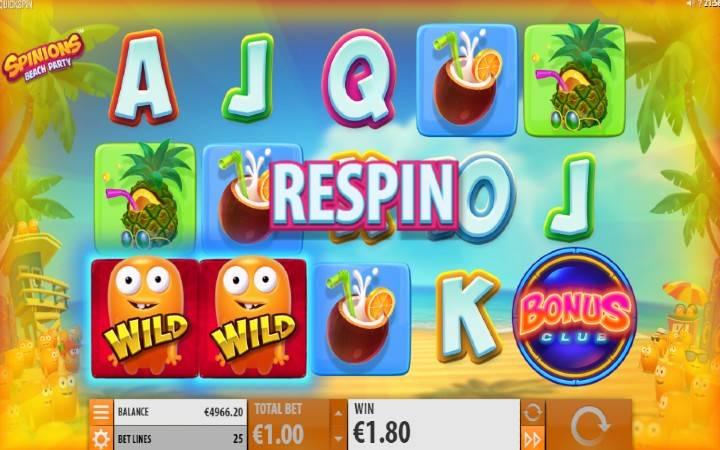 Respin, Online Casino Bonus, Spinions