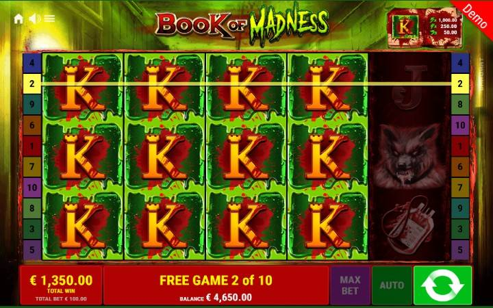 Besplatni spinovi, online casino bonus, book of madness