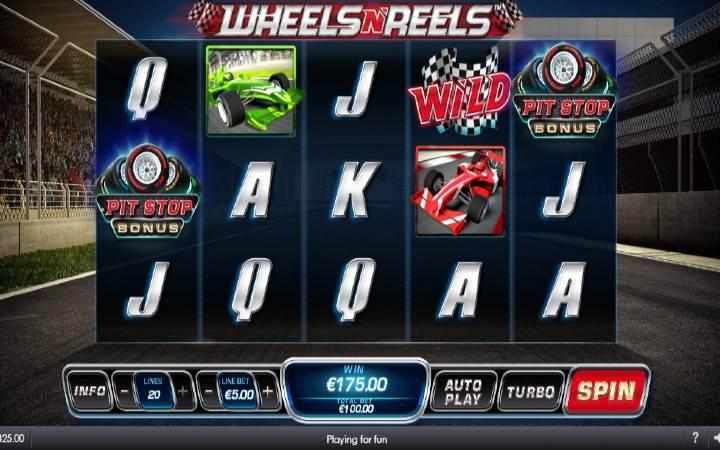 Pit Stop Bonus, online casino bonus, Wheels n Reels
