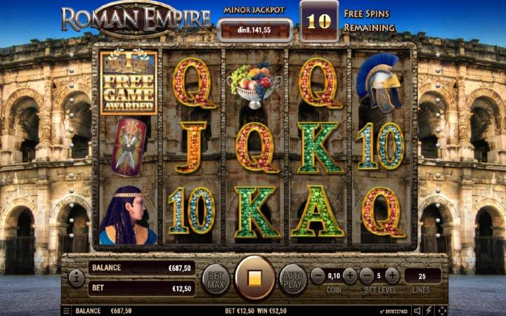 Besplatni spinovi, Online Casino Bonus, Roman Empire