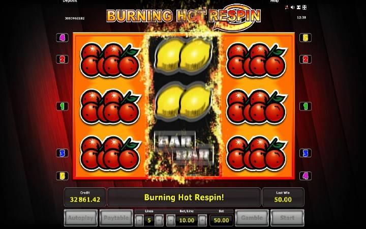 Respin Funkcija, Burnong Hot Respin, Online Casino Bonus