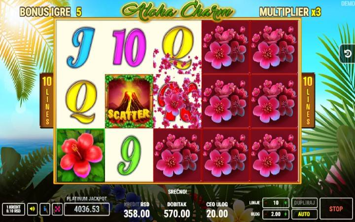 Online Casino Bonus, Aloha Charm