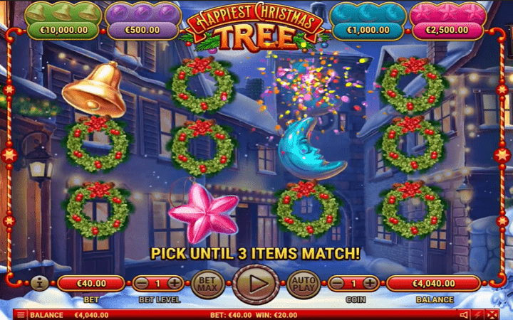 Happiest Christmas Tree, Habanero, Online Casino Bonus