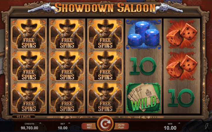 Showdown Saloon, Microgaming, Online Casino Bonus