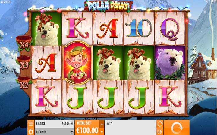 Polar Paws, Quickspin, Online Casino Bonus