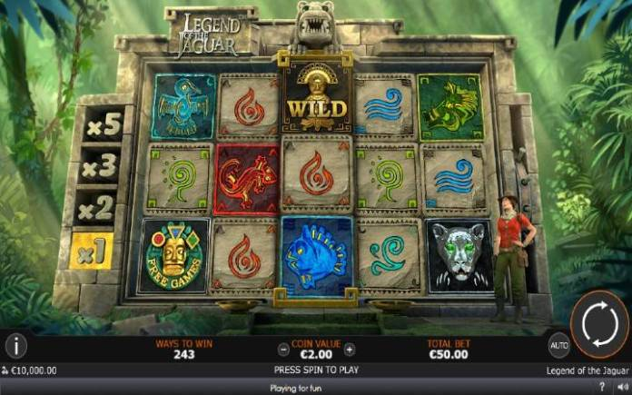 Legend of the Jaguar, Online Casino Bonus, Playtech