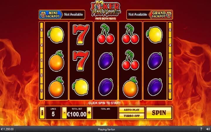 Joker Hot Reels, Playtech, Online Casino Bonus