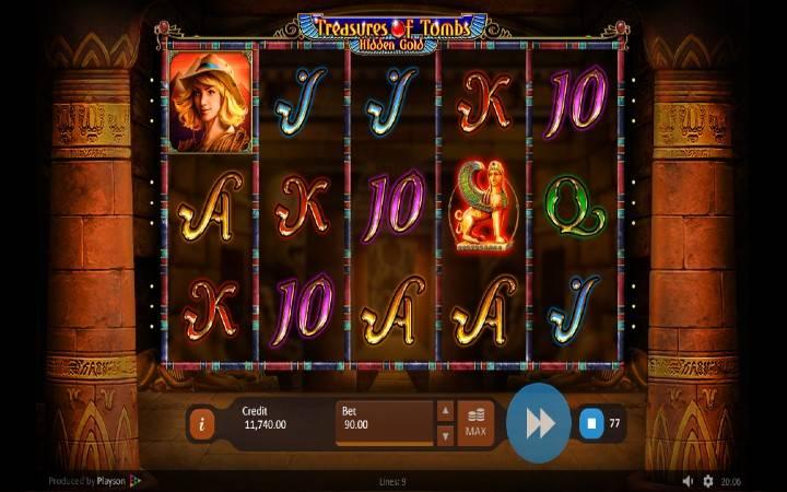 Treasures of Tombs Hidden Gold, Online Casino Bonus, Playson
