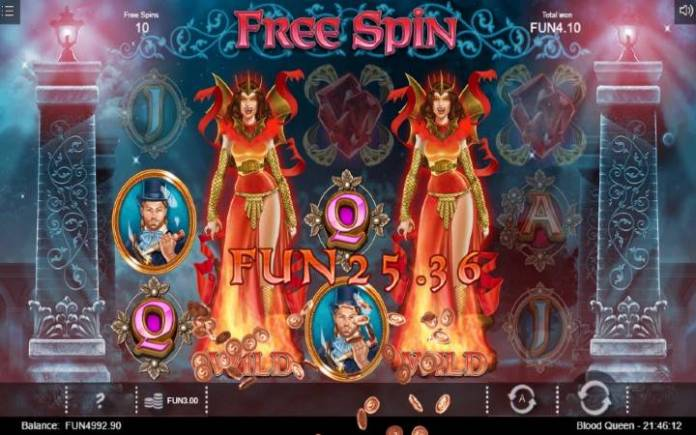 Blood Queen, Online Casino Bonus, Besplatni Spinovi