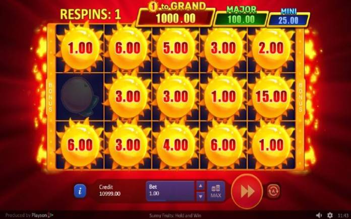 Bonus, Sunce, Sunny Fruits, Online Casino Bonus