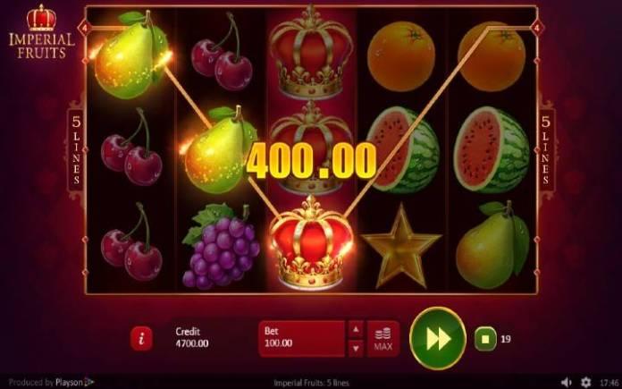 Džoker, Online Casino Bonus, Imperial Fruits: 5 lines